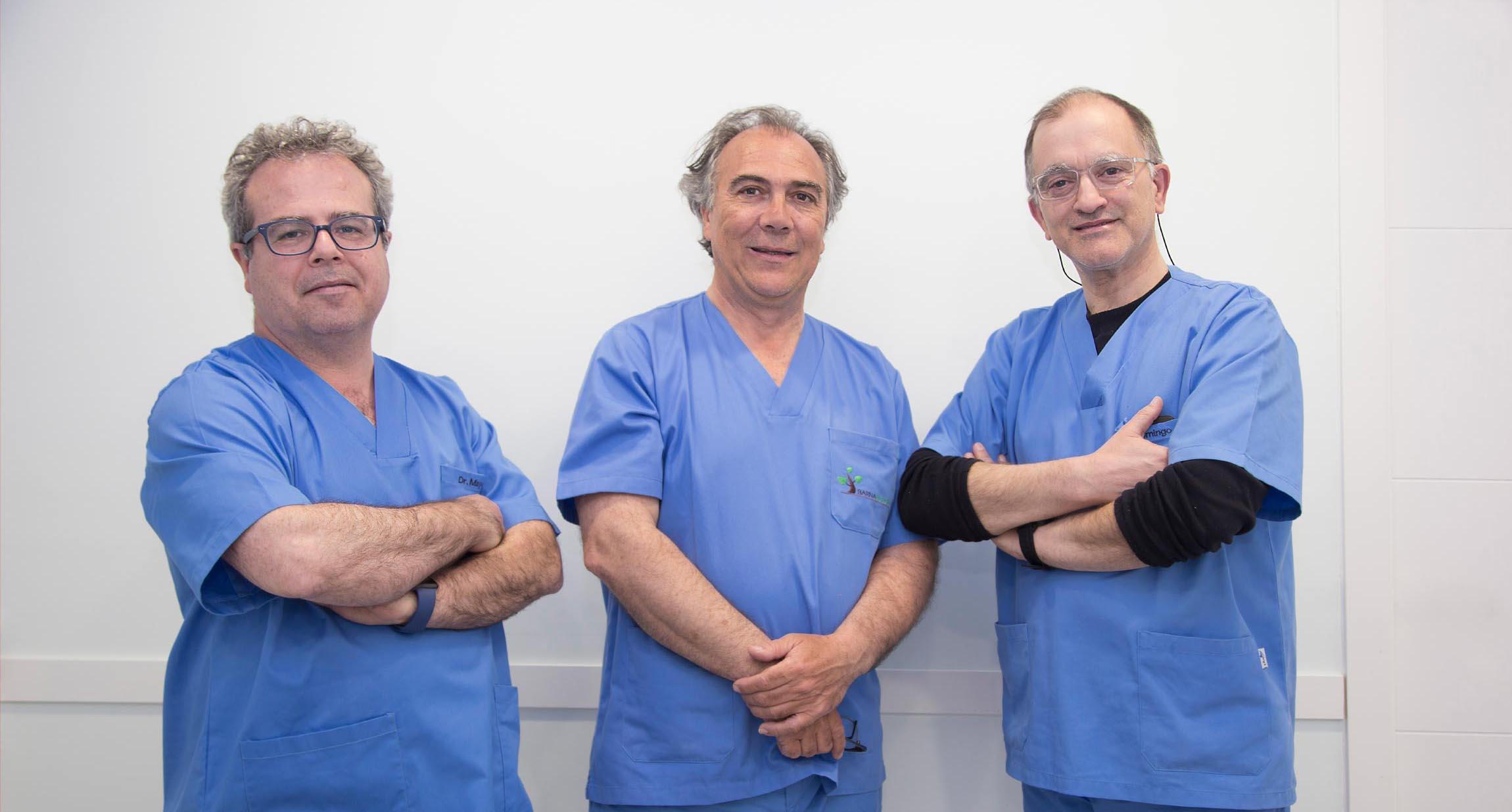 Equipo profesional tratamiento para el dolor barnadolor